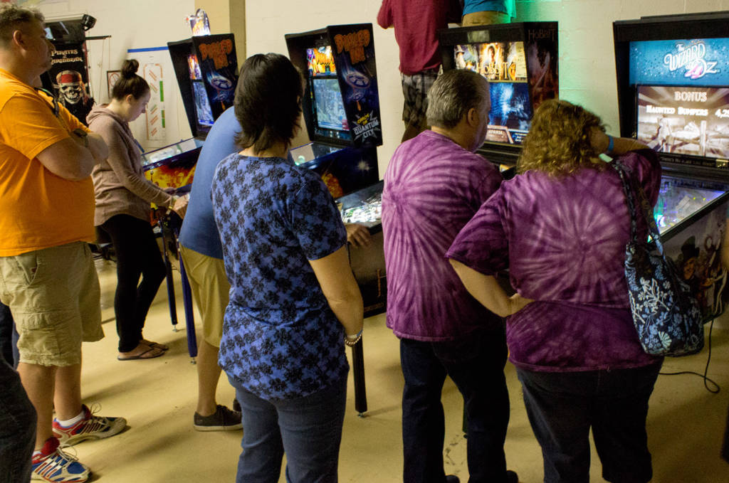Meanwhile the four Jersey Jack games also had queues to play them