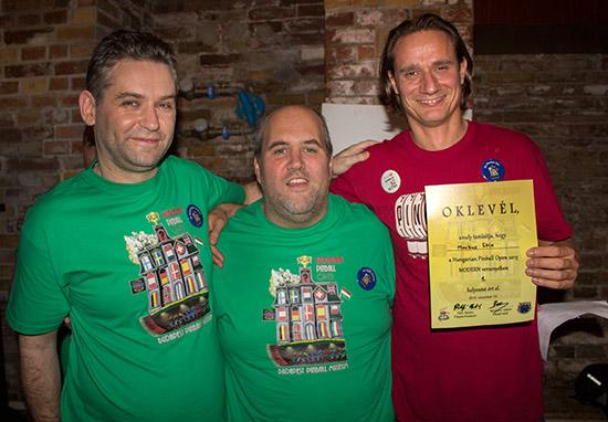 Winner of the Hungarian Pinball Open 2015, Markus Stix