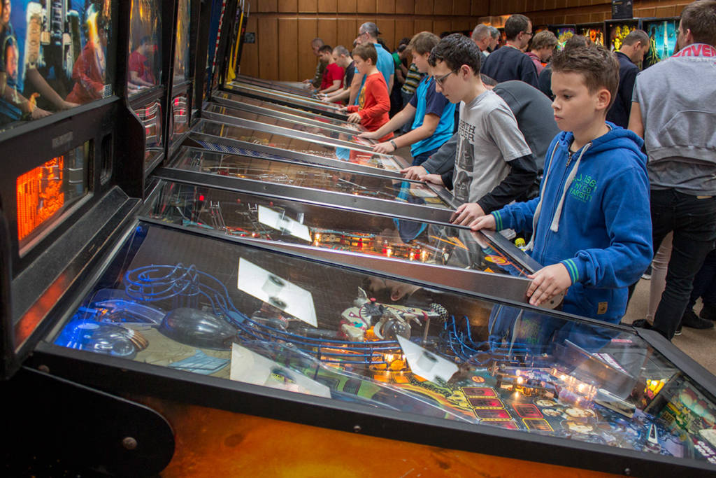 The free play pinball room