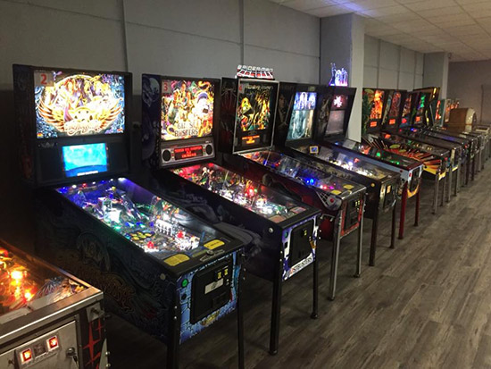 A selection of the games at Double Pinball