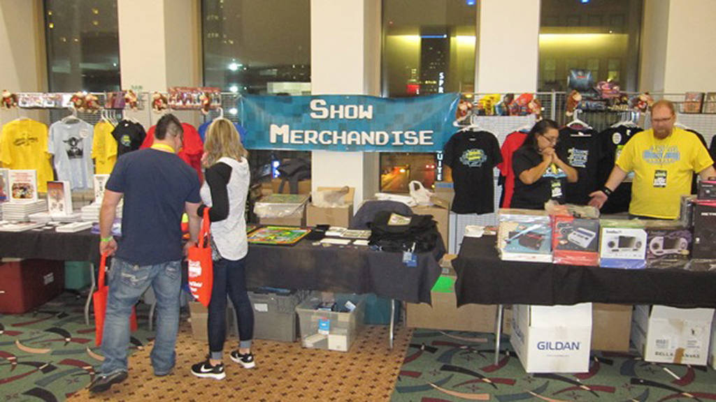 Items for sale outside the main hall