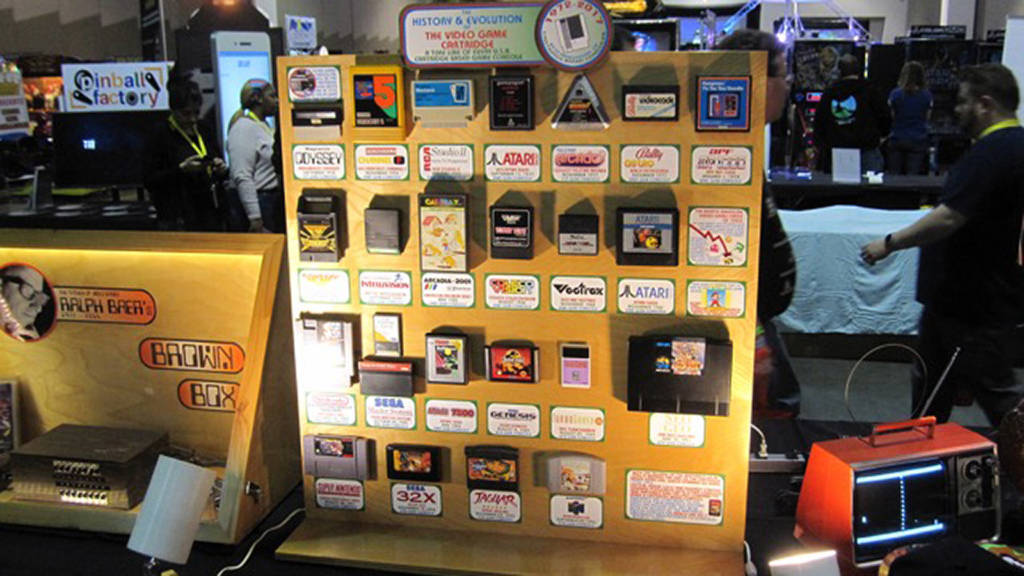 One of the many home video game displays