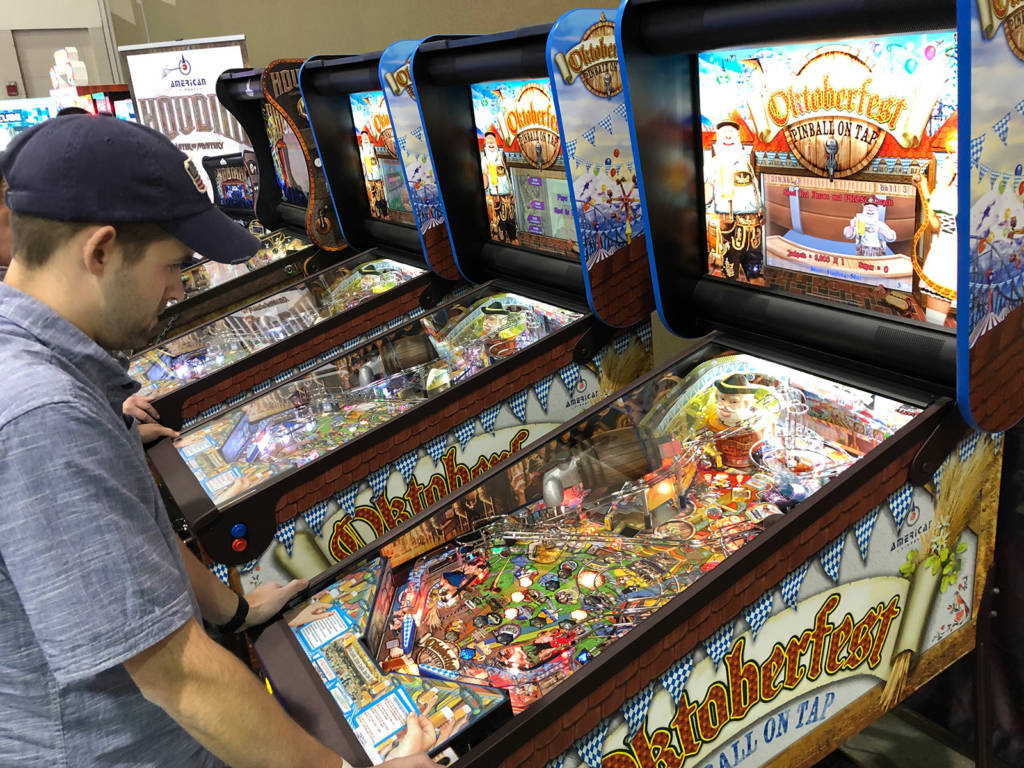 American Pinball had multiple Oktoberfest games to play, together with their Houdini title