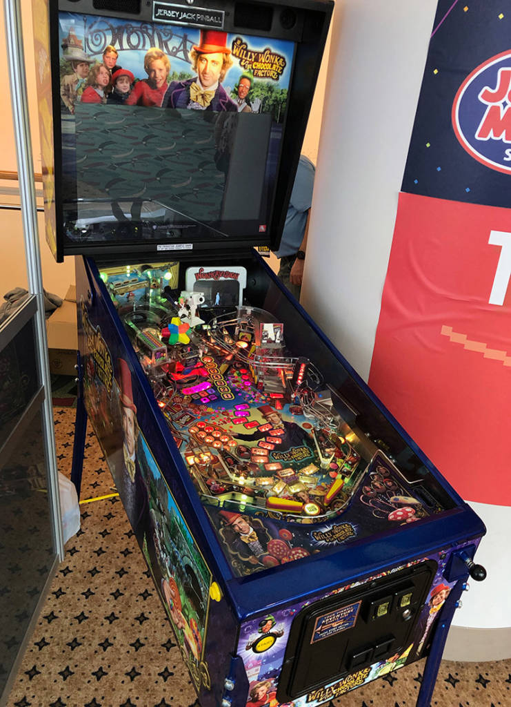 Jersey Jack Pinball launched their new Willy Wonka and the Chocolate Factory game