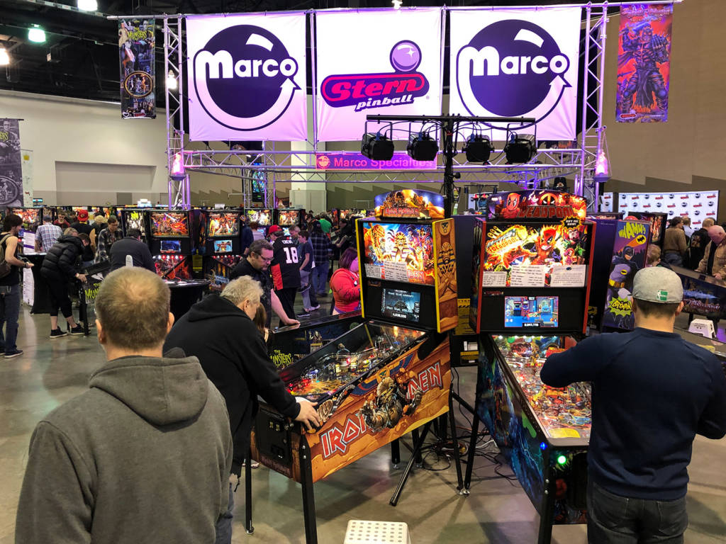 Marco Specialties were showcasing recent and new Stern Pinball titles
