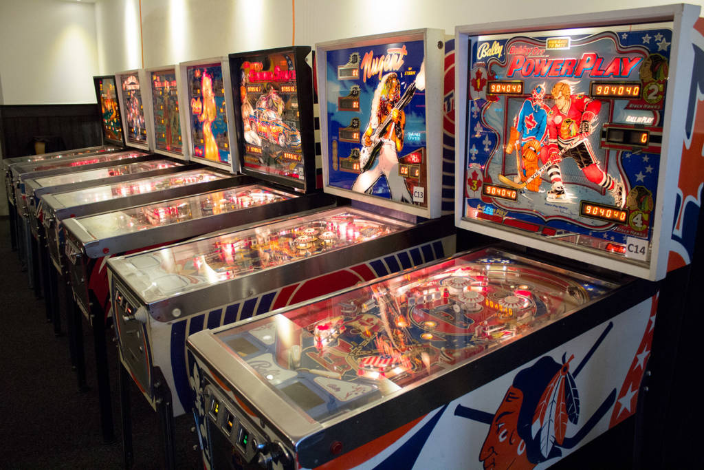 Seven of the Classic Tournament machines