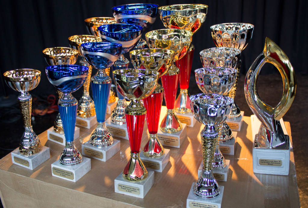 The weekend's trophies