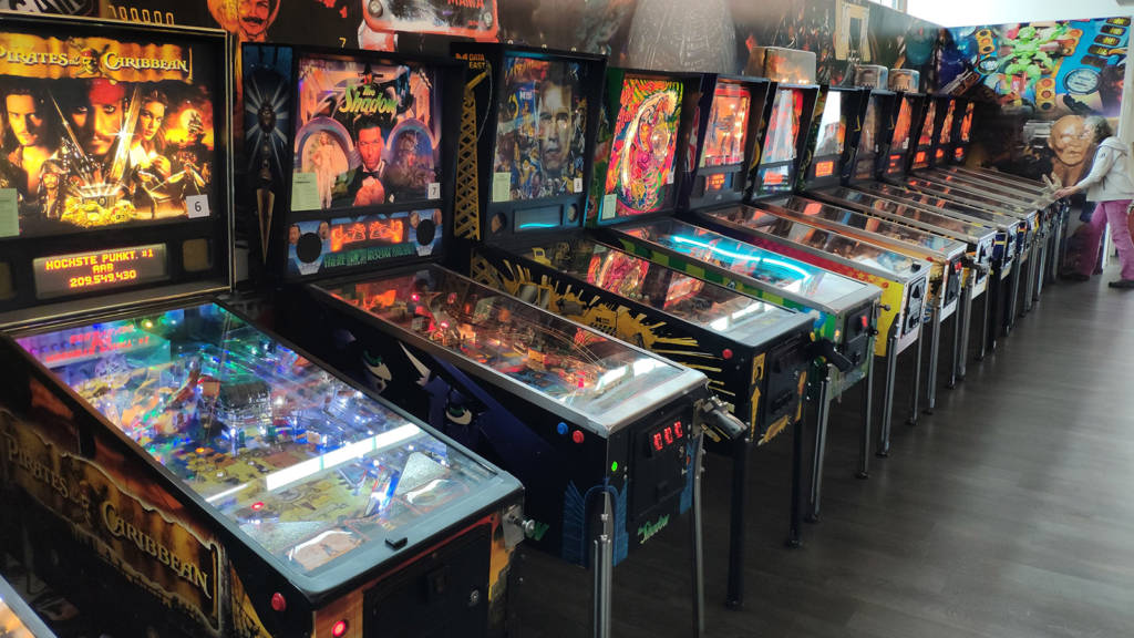 The main pinball room