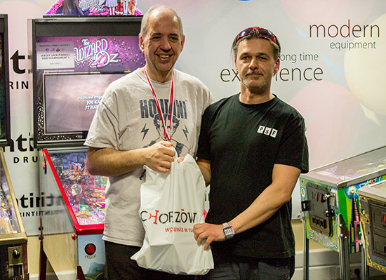 Winner of the Mihiderka Pinball & Food Festival main tournament, Martin Ayub
