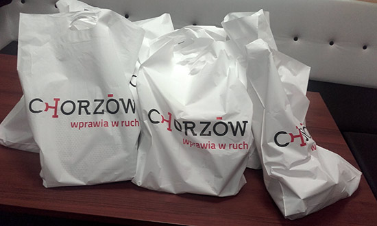Goodie bags for the winners from Chorzów