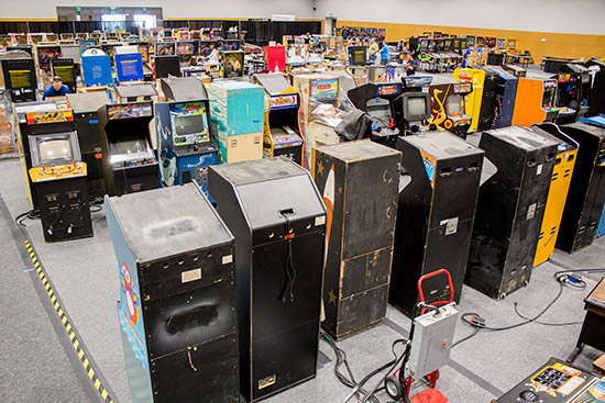 It's certainly not all pinball though - there were tons of videos too