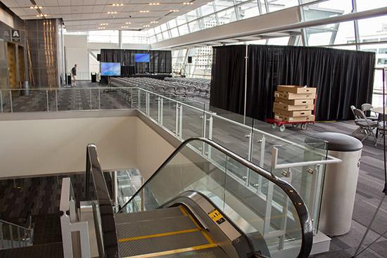 The seminars area on the top floor