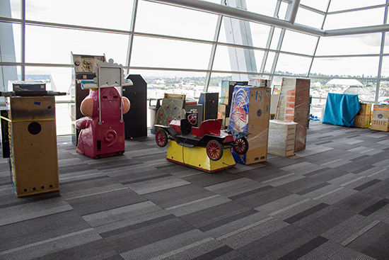 Some of the machines for the kids zone