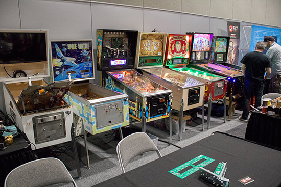 The Fast Pinball stand