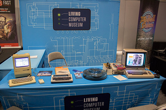 The Living Computer Museum had early Apple and Commodore computers on display
