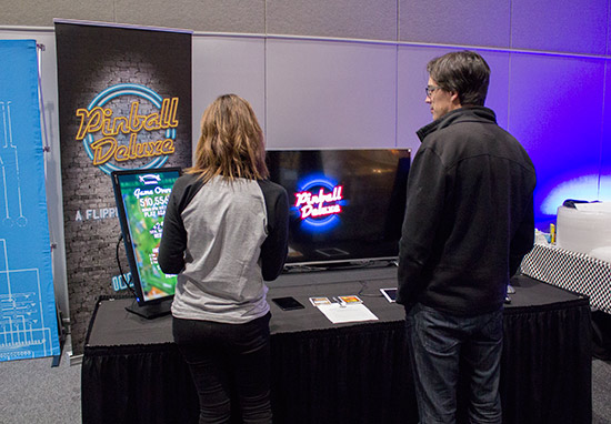 The free Pinball Deluxe game was available to play