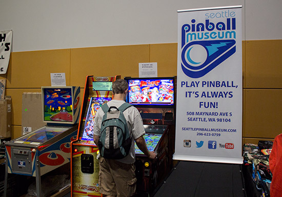 The Seattle Pinball Museum brought three interesting games along