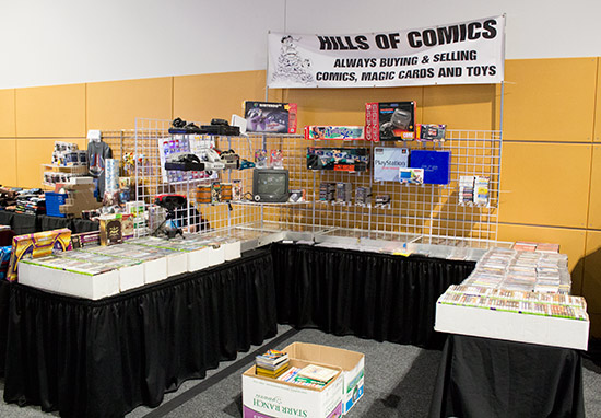 Hills of Comics had lots of console games on their stand