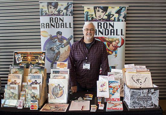 Artist Ron Randall showed some of his classic comic book drawings and original comic series