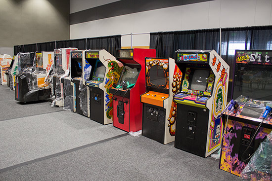 One row of classic arcade videos
