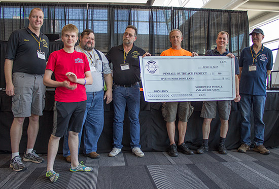 A $500 donation to the Pinball Outreach Project