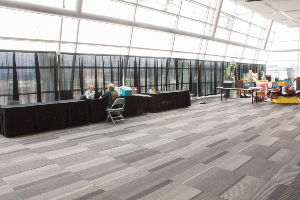 The lobby where registration takes place