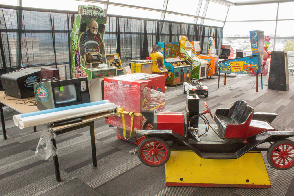 Some of the machines for the kids play area