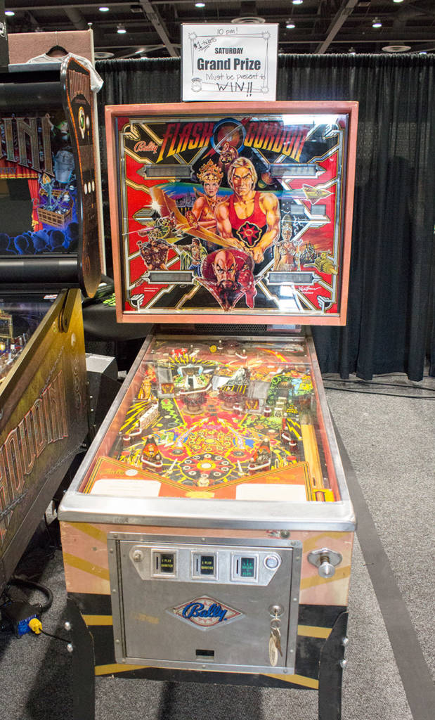Saturday's prize Flash Gordon pinball
