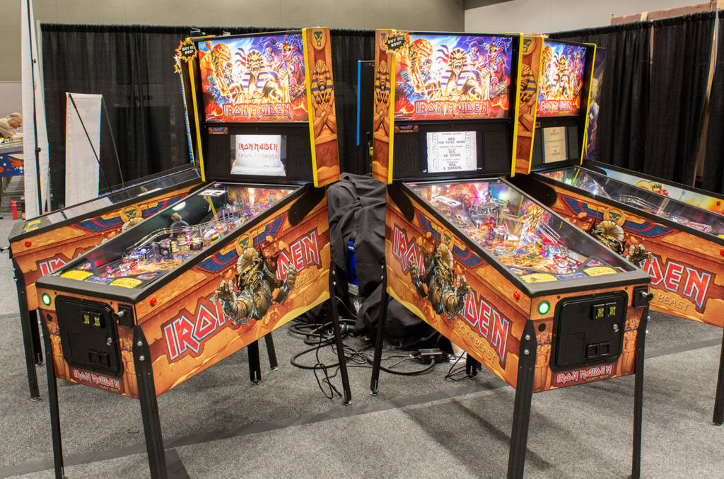 Some of the Iron Maiden games on the Marco Specialties stand