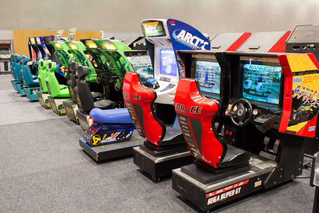 Sit-down racing games
