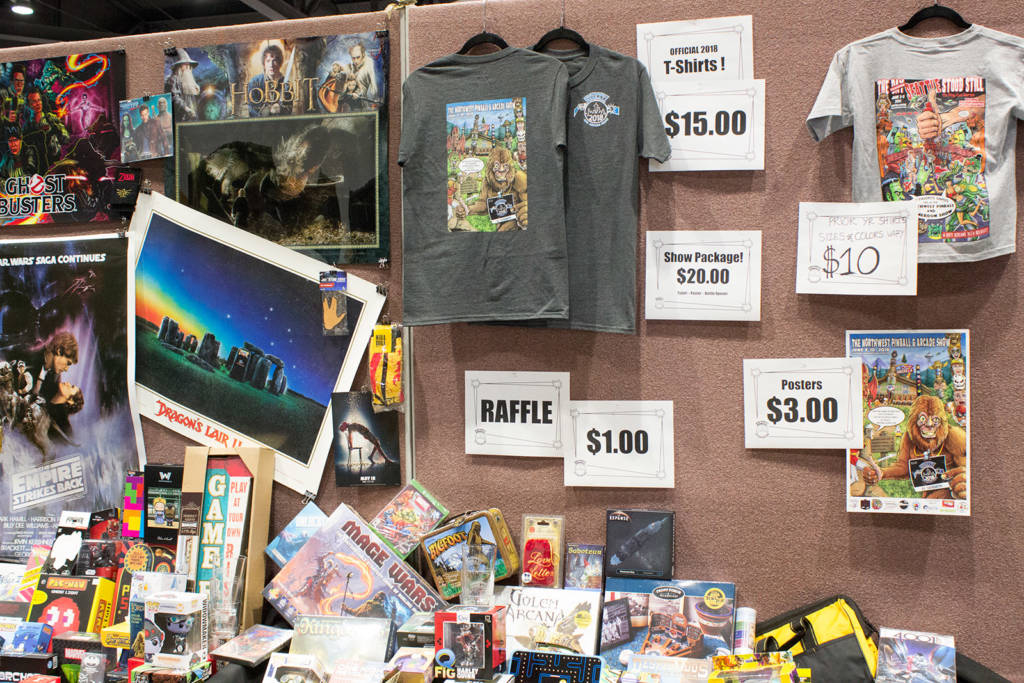 Raffle items and show souvenirs