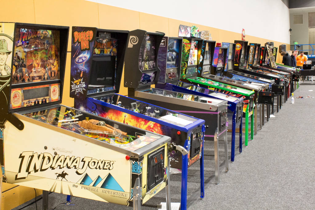 Some of the tournament pinballs