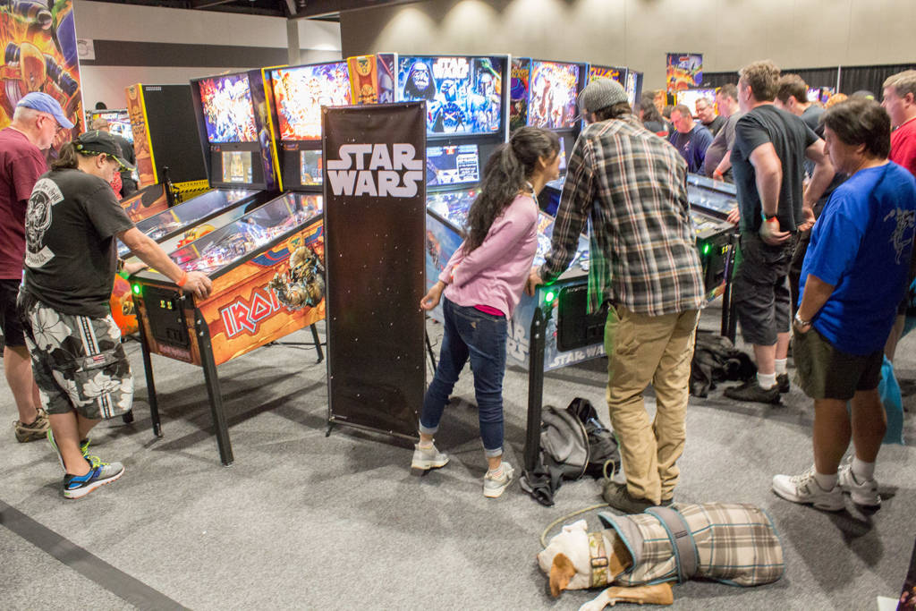 Stern Pinball's products were showcased by Marco Specialties