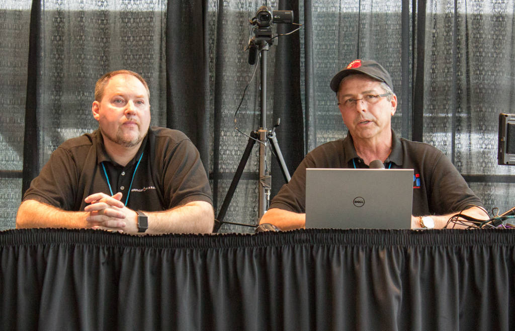 Jim Thornton and Joe Balcer of American Pinball