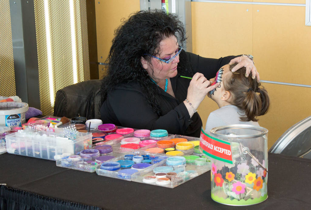 Face painting was available for the kids on Saturday