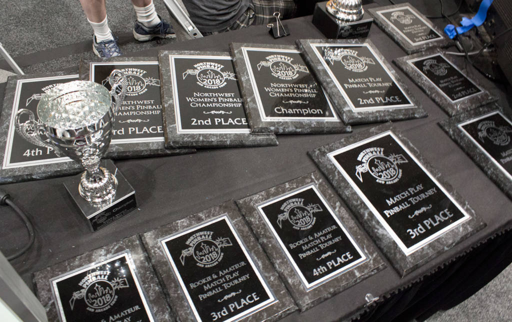 Plaques for the tournament winners