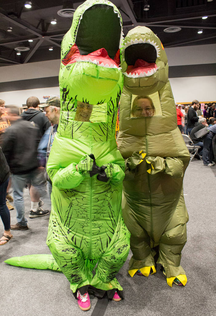 Dinosaurs might be found roaming the show floor at any time