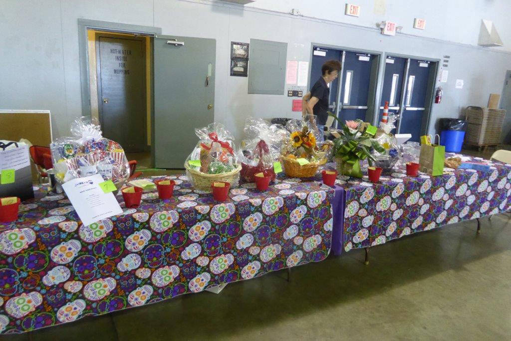 PAGG is all about raising money for the local boys and girls clubs, so the raffle is a big fund-raiser