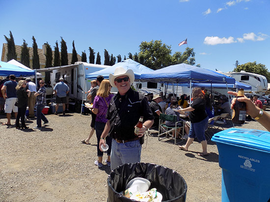 The BBQ in the RV camp