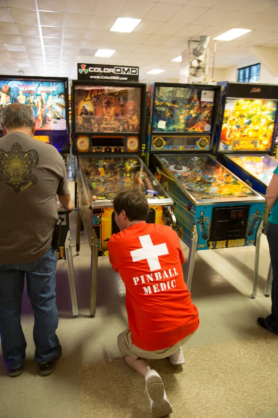 The Pinball Medics are on the job