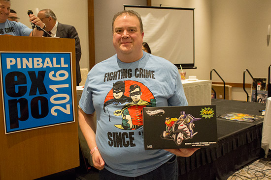 The top prize was a signed BatCycle