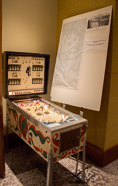 A pinball built based on a lost Harry Williams design