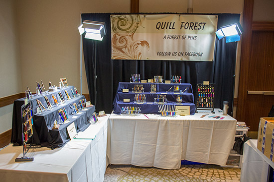Over on the left side of the hall, Quill Forest were non-gaming vendor with their stand selling high-quality writing instruments