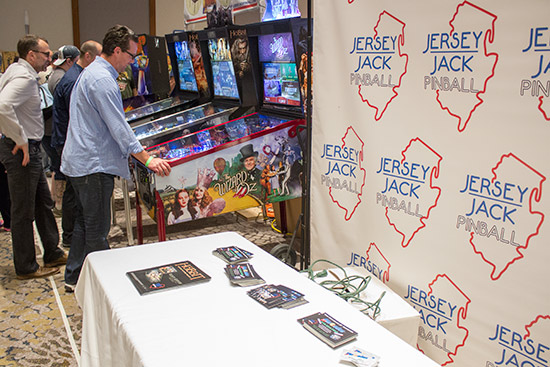 Jersey Jack Pinball had their own large stand