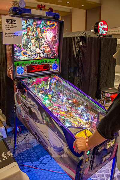 Pinball Refinery has this blinged-out Ghostbusters to demonstrate their many mods
