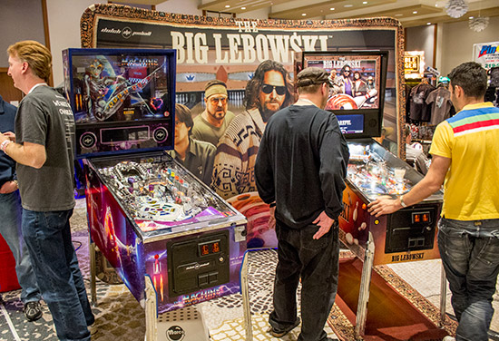 Dutch Pinball's Bride of Pinbot 2.0 and The Big Lebowski were also there and available to play in the central area