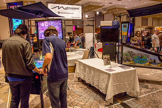 Multimorphic had two P3 pinball platforms to play