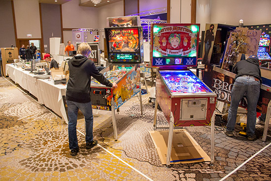 The final central block belonged to Fast Pinball who had several more custom games and demonstrations of their hardware and the Mission Pinball Framework