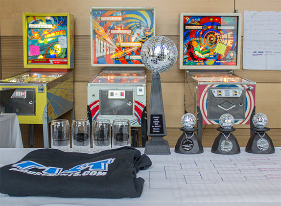 The trophies for the Classics Division