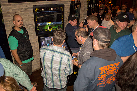 The Alien Pinball game was the star of the event